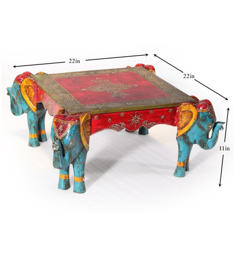 rangilo rajasthan square elephant coffee table by