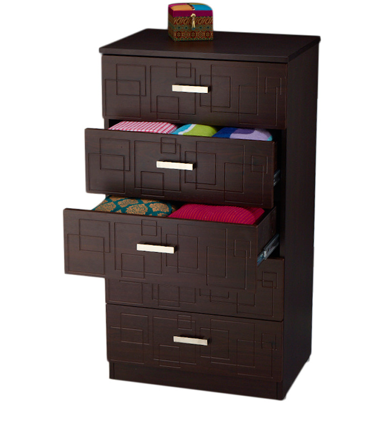 Squadro Chest Of Drawer In Cinnamon Colour By Godrej Interio By Godrej Interio Online Modern