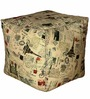 Square Footstool with Beans with Stamps Print by Sattva