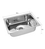 SS Silverware Stainless Steel Single Bowl Kitchen Sink - SS-S-IHQ