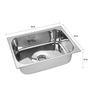 SS Silverware Stainless Steel Single Bowl Kitchen Sink - SS-SIN