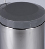 SS Silverware Plain Grey 7 L Pedal Dustbin with Lid