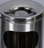 SS Silverware Silver 7 L Dustbin with Ash Can