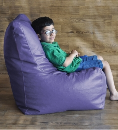 Style HomeZ Purple XL Chair Shaped Bean Bag Cover (Without Beans)