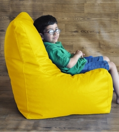 Style HomeZ Yellow XL Chair Shaped Bean Bag