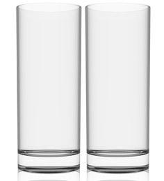 Stallion Barware Unbreakable High Ball Beer Glass - 330 ML - Pack Of 2