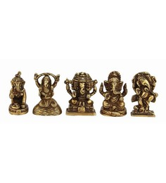 Statue Studio Golden Ganesha 5 Pcs Set