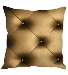 Stybuzz Quilt Print Brown Silk Cushion Cover