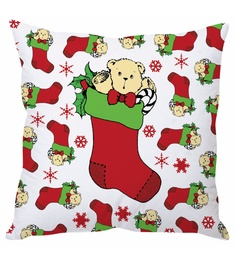 Stybuzz White Polyester 16 X 16 Inch Christmas Cushion Cover