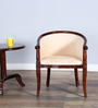 Stalley Arm Chair in Cream Color with Honey Oak Finish by Amberville