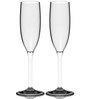 Stallion Barware Unbreakable Flute Champagne Glass - 170 ML - Pack of 2