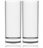 Stallion Barware Unbreakable High Ball Beer Glass - 300 ML - Pack of 2