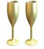 Stallion Barware Unbreakable Uber Gold Flute 170 ML Champagne Glass - Set of 2