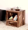 Stanwood Bed Side Table in Warm Walnut Finish by Woodsworth