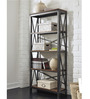 Stark Cross Sided Metal & Wood Display Unit in Grey Colour by Asian Arts