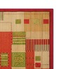 Status Red & Brown Non Woven Fabric 72 x 48 Inch Striped & Checkered Area Rug