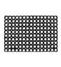 Fabricio Door Mat in Black by CasaCraft