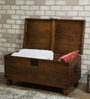 Hudson Solid Wood Small Blanket Box in Provincial Teak Finish by Woodsworth