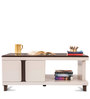 Stella Center Table with Drawers in Off-White Colour by Durian