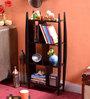 La Stella Espresso Walnut Wooden Bricko 3 Tier Wall Shelf