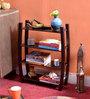 La Stella Espresso Walnut Wooden Brussel 4 Tier Wall Shelf