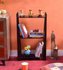 La Stella Espresso Walnut Wooden Heptic 3 Tier Wall Shelf