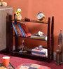 La Stella Espresso Walnut Wooden Simplan 3 Tier Wall Shelf