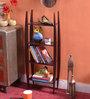 La Stella Passion Mahogany Wooden Amro 4 Tier Wall Shelf