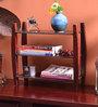 La Stella Passion Mahogany Wooden Bingo 3 Tier Wall Shelf