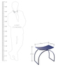 Stool in Blue Colour by Indecrafts