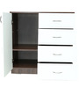 Put-in Cabinet Unit in Maldau Dark Acacia & Frosty White Colour by Rawat