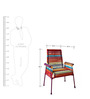 Stork High-Back Chair In California Sunset Color by Sahil Sarthak Designs