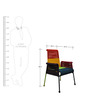 Stork High-Back Chair in Multicolor by Sahil Sarthak Designs