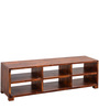 Stoway Long Entertainment Unit in Warm Rich Finish by Inliving