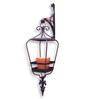 Studio Earthbox Sicily Lantern Black Metal Hanging Planter with Terracotta Ceramic Pot