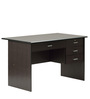Study Table with Drawers in Cappucinno Finish by Marco