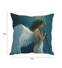 Stybuzz Blue Silk 16 x 16 Inch Angel Warrior Girl Cushion Cover