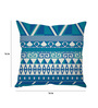Stybuzz Blue Silk 16 x 16 Inch Horizontal Patterns Cushion Cover
