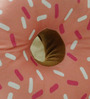 Stybuzz Brown & Pink Velvet 16 x 16 Inch Donut Pillow Cushion Covers with Insert
