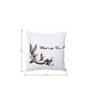 Stybuzz Bugs Bunny Black & White Silk Cushion Cover