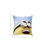 Stybuzz Happy Minions Yellow Silk Cushion Cover