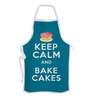 Stybuzz Keep Calm & Bake Cakes Blue Cotton Kitchen Aprons