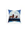 Stybuzz Lion King Blue Silk Cushion Cover