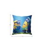 Stybuzz Minions in Thought Blue Silk Cushion Cover