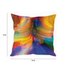 Stybuzz Multicolor Silk 16 x 16 Inch Colours Blowing out Cushion Cover