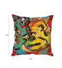 Stybuzz Multicolor Silk 16 x 16 Inch Guitar Cushion Cover