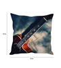 Stybuzz Multicolor Silk 16 x 16 Inch Guitar with Butterfly Strings Cushion Cover