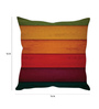 Stybuzz Multicolor Silk 16 x 16 Inch Panels Taffeta Cushion Cover