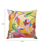 Stybuzz Multicolor Silk 16 x 16 Inch Parrot Art Cushion Cover