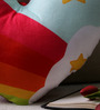 Stybuzz Multicolor Velvet 16 x 16 Inch Rainbow Cloud Heart Abstract Cushion Cover with Insert